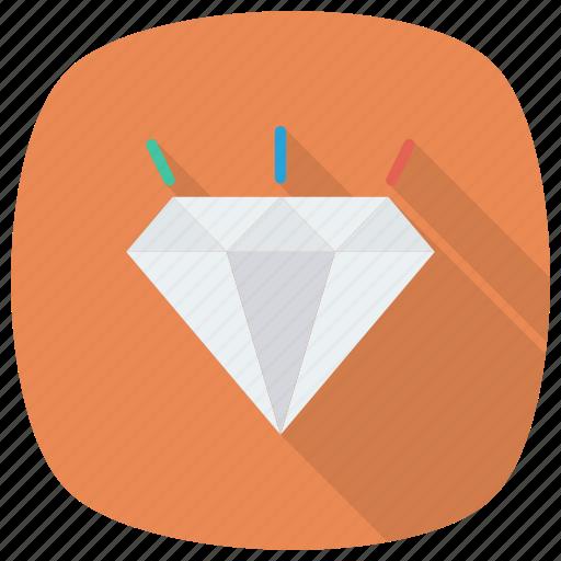 crystal, diamond, diamondshape, jewel, jewelry, ring icon