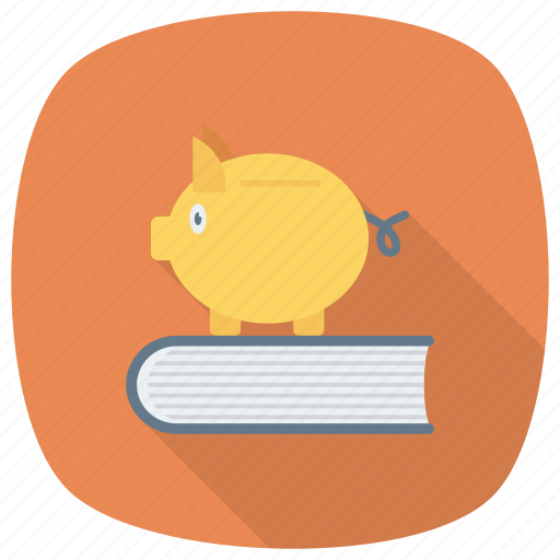 bank, education, learning, piggy, reading icon