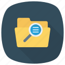 content, document, file, find, glass, magnifier icon