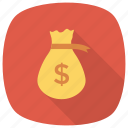 bag, cash, currency, dollar, dollarsign, finance, moneybag icon