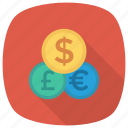 business, cash, currency, currencyexchange, dollar, finance, moneyexchange icon