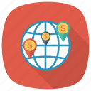 globalbusiness, gps, map, marker, navigation, pin, worldmap icon