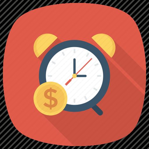 cash, clock, deadline, finance, money, payment icon