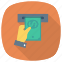 atm, atmmoney, currency, dollar, finance, money, payment icon