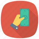 currency, dollar, finance, finger, gesture, hand, money icon