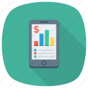 chart, graph, mobilefinance, phone, report, smartphone icon