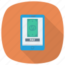 device, mobilemoney, mobilepayment, money, onlinebanking, phone, smartphone icon