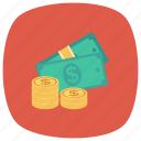 cash, currency, dollar, finance, losechange icon