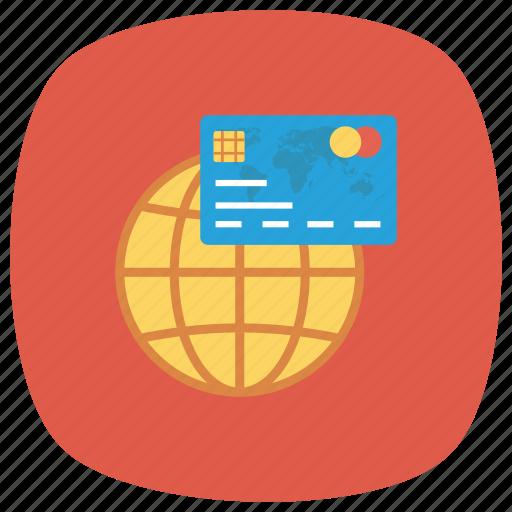 cardsglobalwhite, credit, globe, money, payment icon