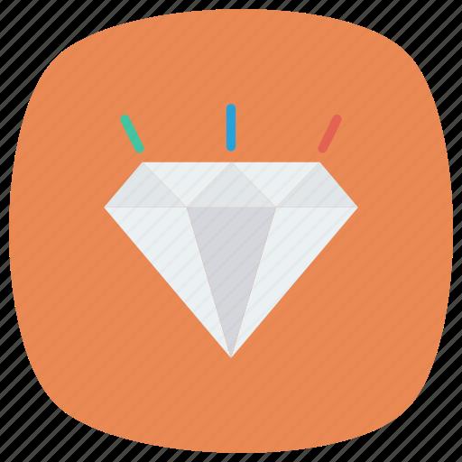 Crystal, diamond, diamondshape, jewel, jewelry, ring icon - Download on Iconfinder