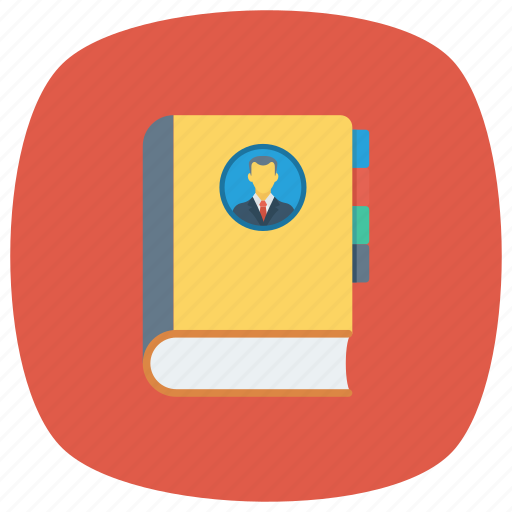 addressbook, contactbook, contract, education, phone, phonebook, reading icon