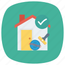 bankloan, building, estate, home, mortgage, property, real icon
