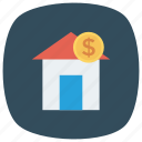 building, estate, home, money, moneyhouse, payment icon