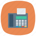 fax, faxmachine, machine, printer, printing, telephone icon