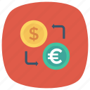 currency, dollar, exchange, finance, money, moneyexchange, trade icon
