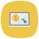 card, click, computermouse, money, payment, payperclick, ppc icon