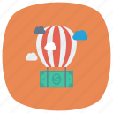 ballon, cloud, currency, dollar, finance, money, payment icon