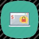 cash, finance, laptop, money, security