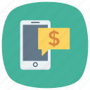 finance, mobilephonepayment, mobilewallet, money, payment, phone, smartphone icon