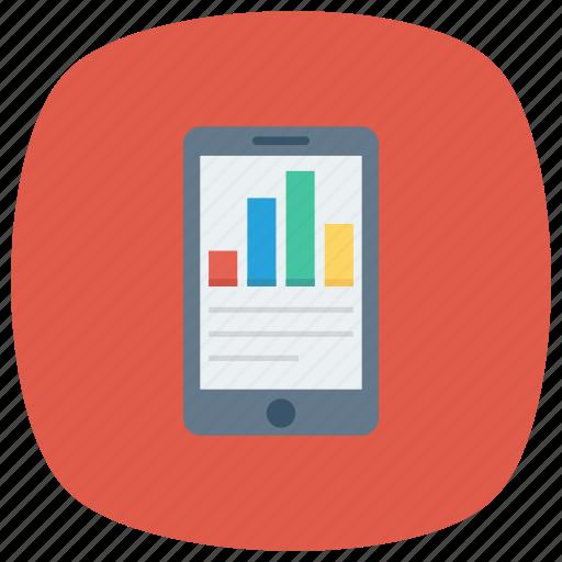chart, graph, mobilefinance, phone, report, smartphone icon