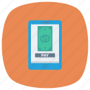 device, mobilemoney, mobilepayment, money, onlinebanking, phone, smartphone icon