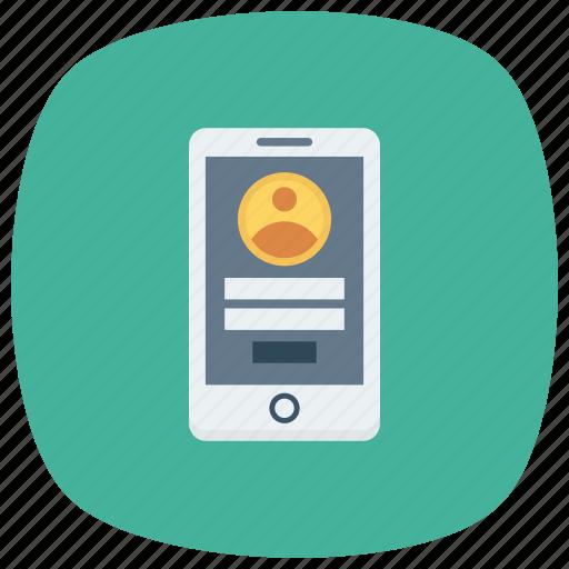 login, phone, profile, signup, smartphone, user icon