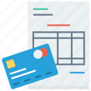 bill, credit, money, payment icon