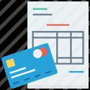 bill, credit, money, payment
