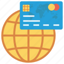 cardsglobalwhite, credit, globe, money, payment icon