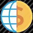 business, cash, currency, dollar, finance, globemoney, worldcurrency icon