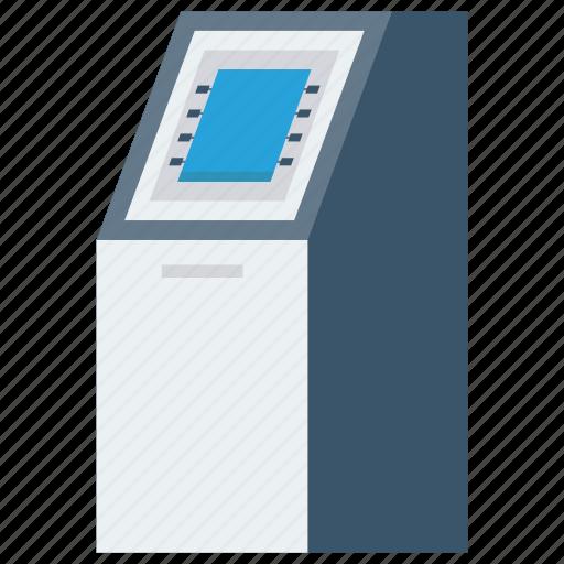 atm, atmcard, bank, cashmachine, debitcard, machine, robot icon