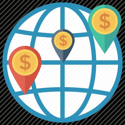 globalbusiness, gps, map, marker, navigation, pin, worldmap icon