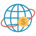 cash, currency, dollar, finance, global, globaleconomy, money icon