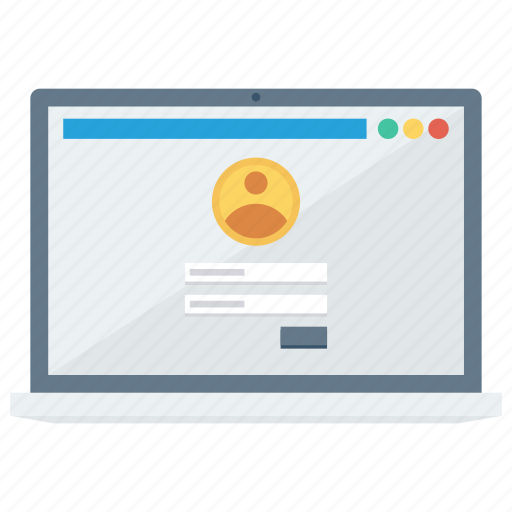 account, avatar, business, login, online, person, profile icon