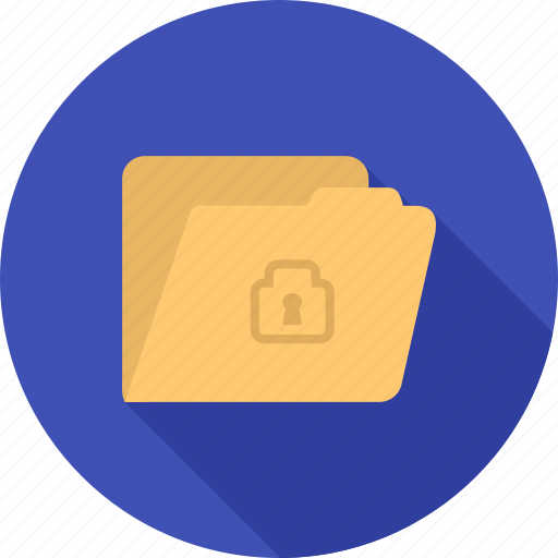 confidential, document, file, folder, lock, safety, secure icon