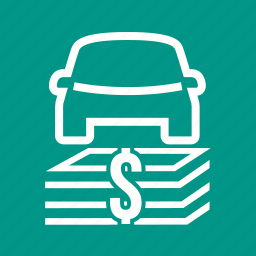 bank, car, currency, dollar, investment, transport, vehicle icon