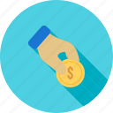 cash, coin, donate, donation, fund, hand, money