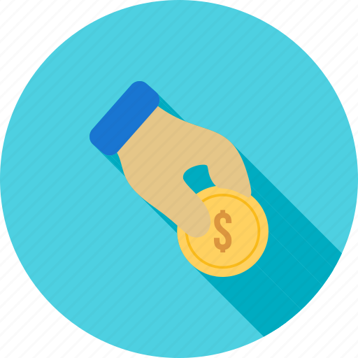 cash, coin, donate, donation, fund, hand, money icon