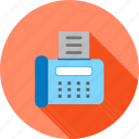 data, equipment, fax machine, information, machine, send, transfer icon