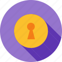 keyhole, lock, locked, locker, open, secure, security icon