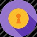 keyhole, lock, locked, locker, open, secure, security