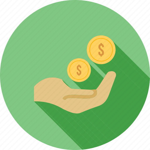 cash, currency, dollar, hand, monetary help, money, yen icon