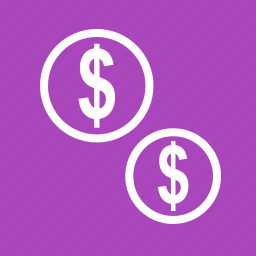 cash, coins, currencies, dollar, emolument, monetary resource, money icon