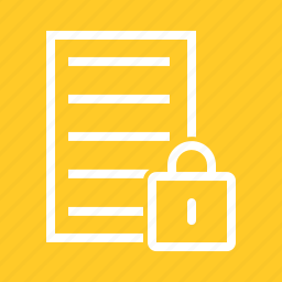 data, document, file, information, lock, report, secure icon