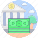 banknote, cash, currency, dollar, finance, paper money icon