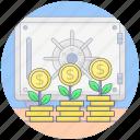 dollar plant, financial growth, growth plant, money growth, money plant icon