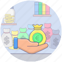 charity, donation, fundraising, funds, money donation icon