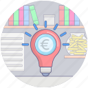 budget plan, business idea, financial idea, investment idea, money idea icon