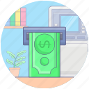 atm withdrawal, cash out, cash withdrawal, money withdraw, transaction icon