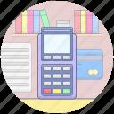 cash machine, cash register, cash till, invoice machine, pos icon